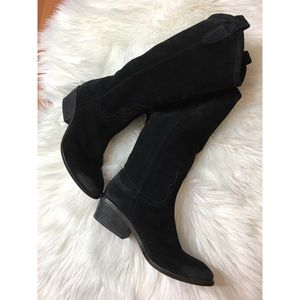 Guess by Marciano suede black cowboy boots